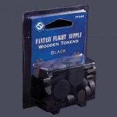 Black Assorted Wood Tokens