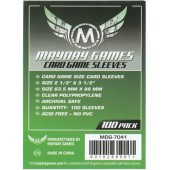 Card Game Sleeves Green 63.5mm x 88mm (100)