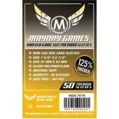 Dark Yellow Label: Premium Mini USA Sleeves  41 MM X 63 MM pack of 50 (Mayday Games)