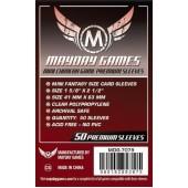 Dark Red Label: Premium Mini Chimera Sleeves 43 MM X 65 MM pack of 50 (Mayday Games)